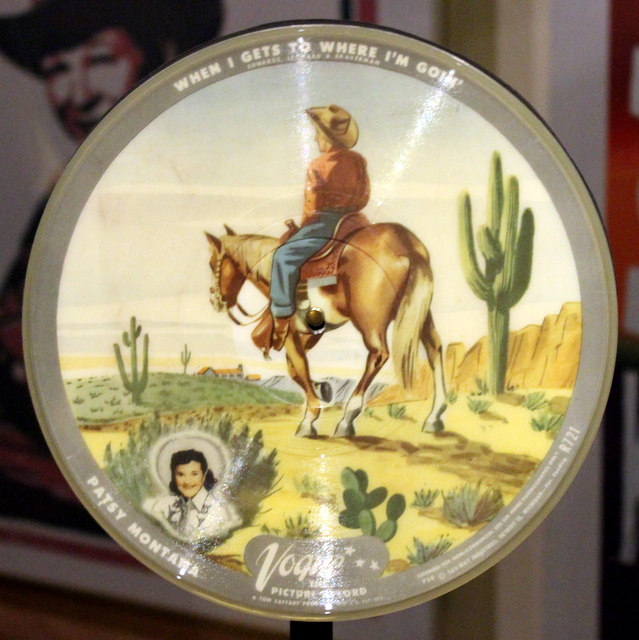 One of the first Picture 78's made. Having spent my early childhood watching old black & white cowboy shows on Saturday morning, I enjoyed this music history display.