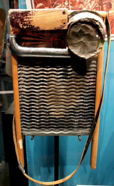Custom made washboard used by Jeff Hanna of the Nitty Gritty Dirt Band.