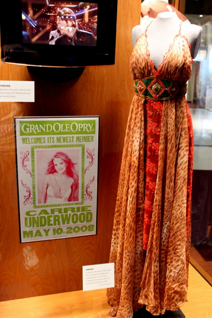 Worn by Carrie Underwood when she won the American Idol competition.
